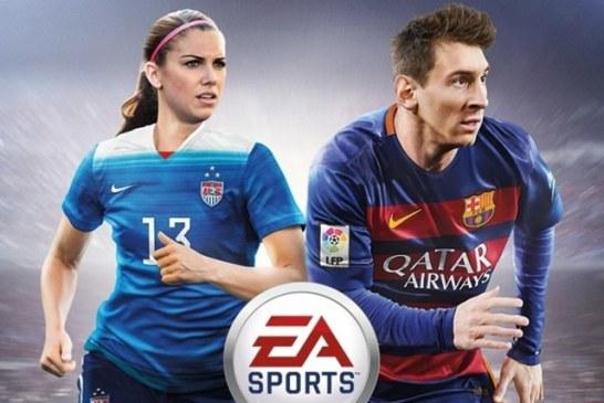 الکس مورگان نیز بر روی کاور FIFA 16 قرار گرفت