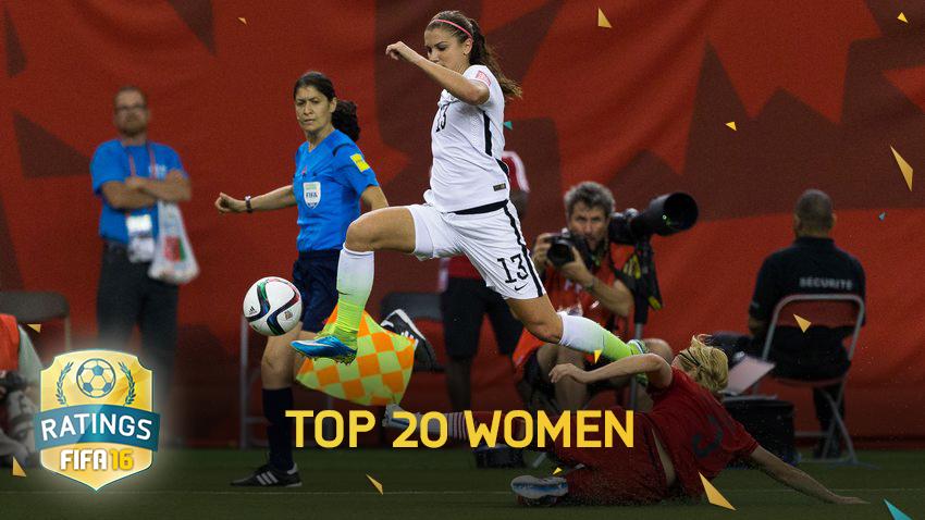 20 بازیکن برتر بانوان در FIFA 16
